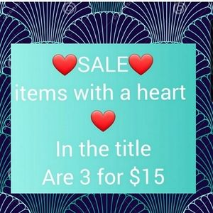 SALE ❤ 3 FOR $15